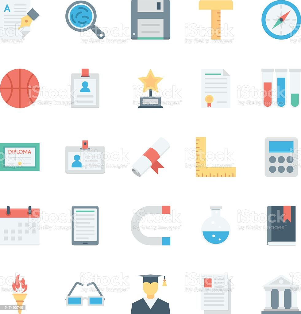 Education Vector Icons 4 vector art illustration