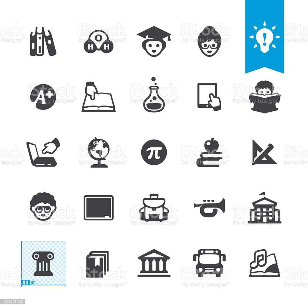 Education vector icons vector art illustration