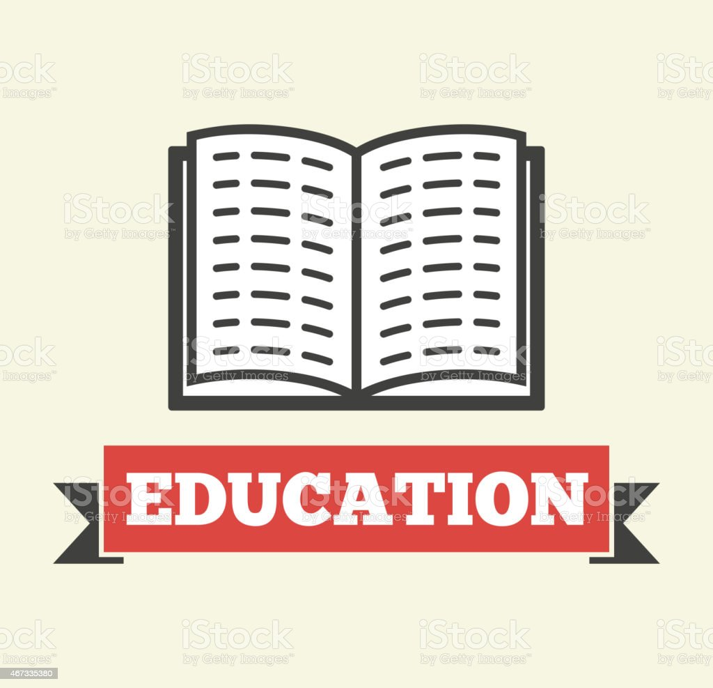 Education vector art illustration