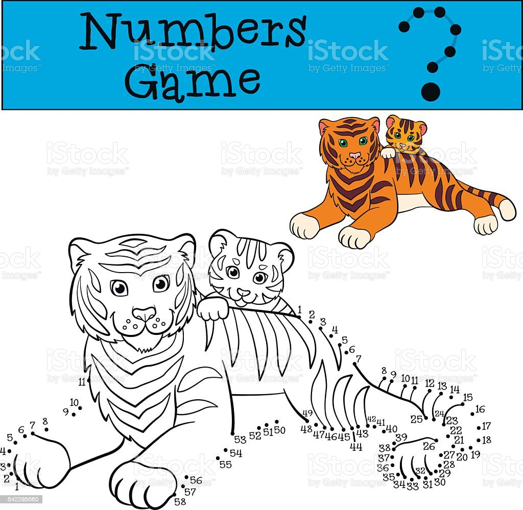 educational games for kids numbers game mother tiger with baby