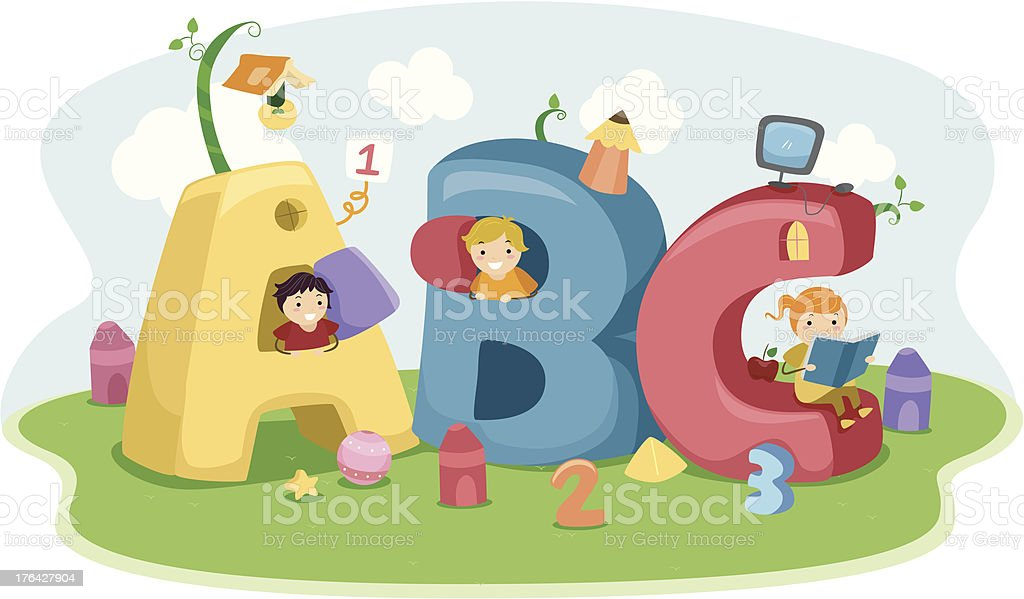 Educational Letters royalty-free stock vector art