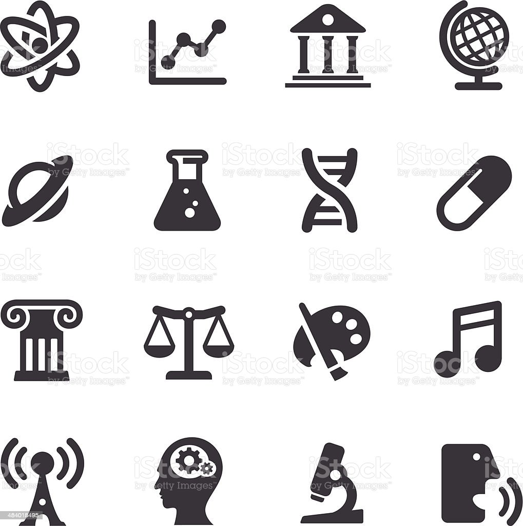 Educational Subjects Icons - Acme Series vector art illustration