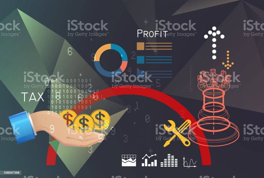 Effective Tax Planning vector art illustration