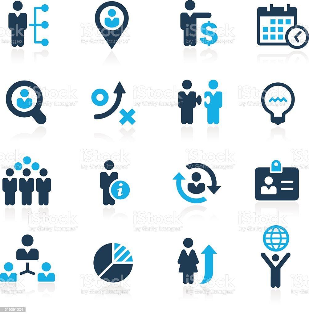Efficiency and Business Strategies - Azure Series vector art illustration