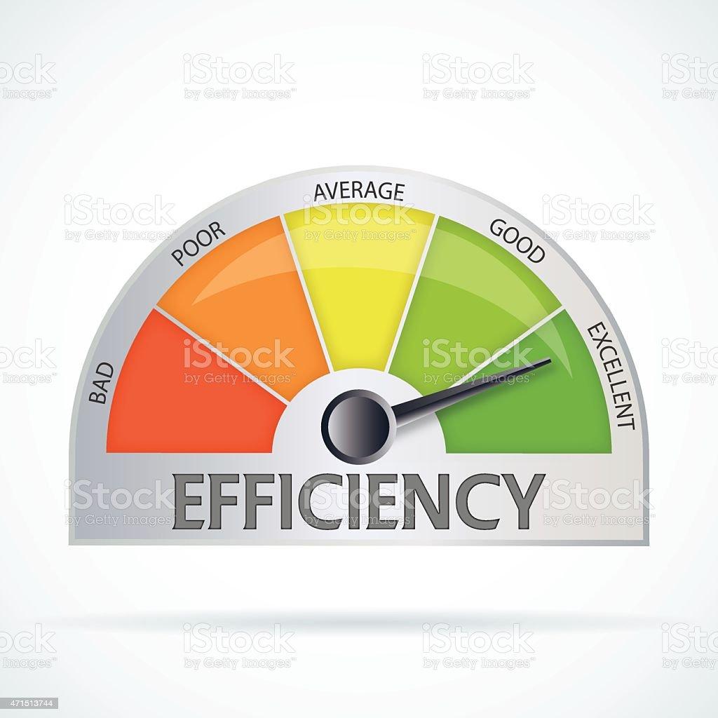Efficiency chart vector art illustration