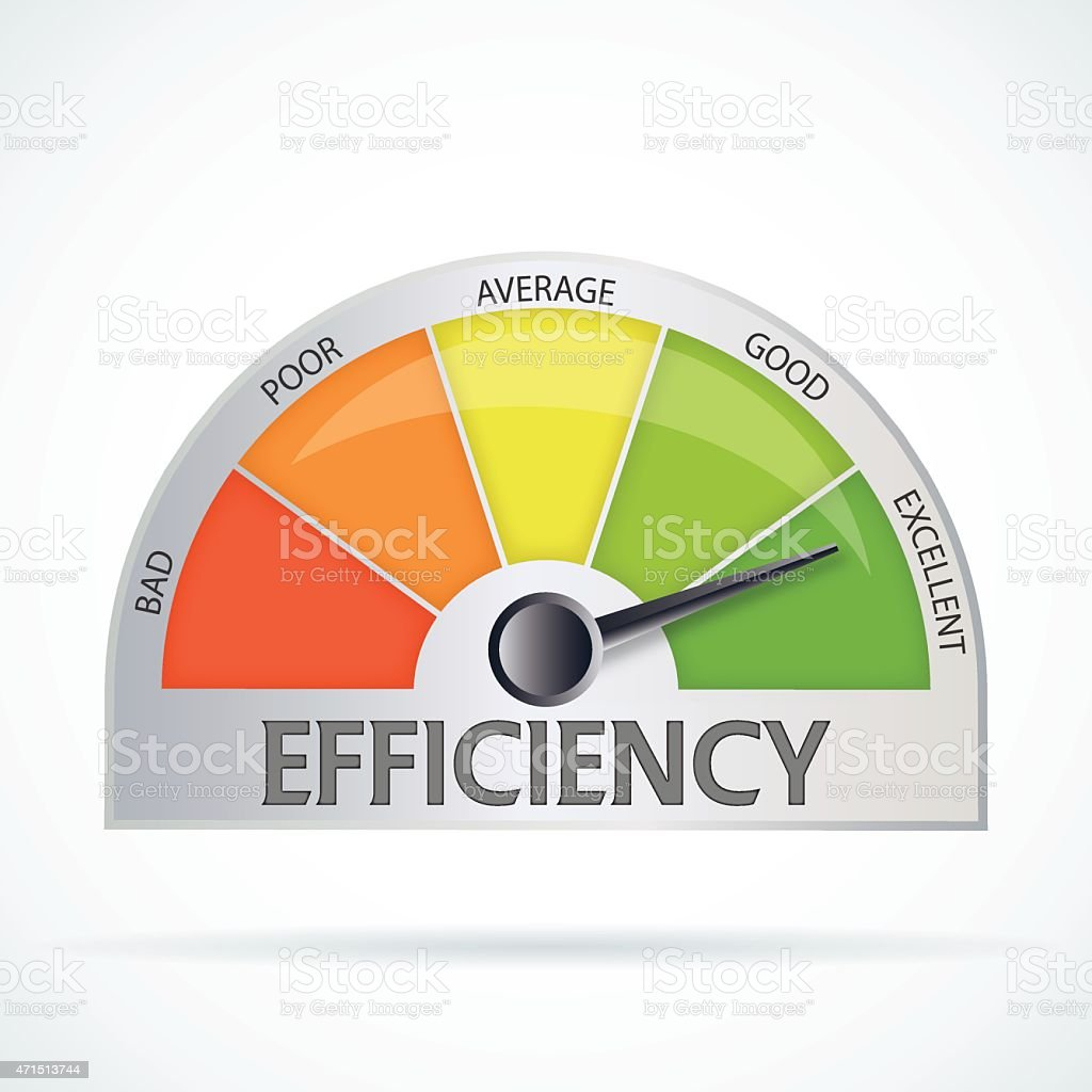 Efficiency chart vector art illustration