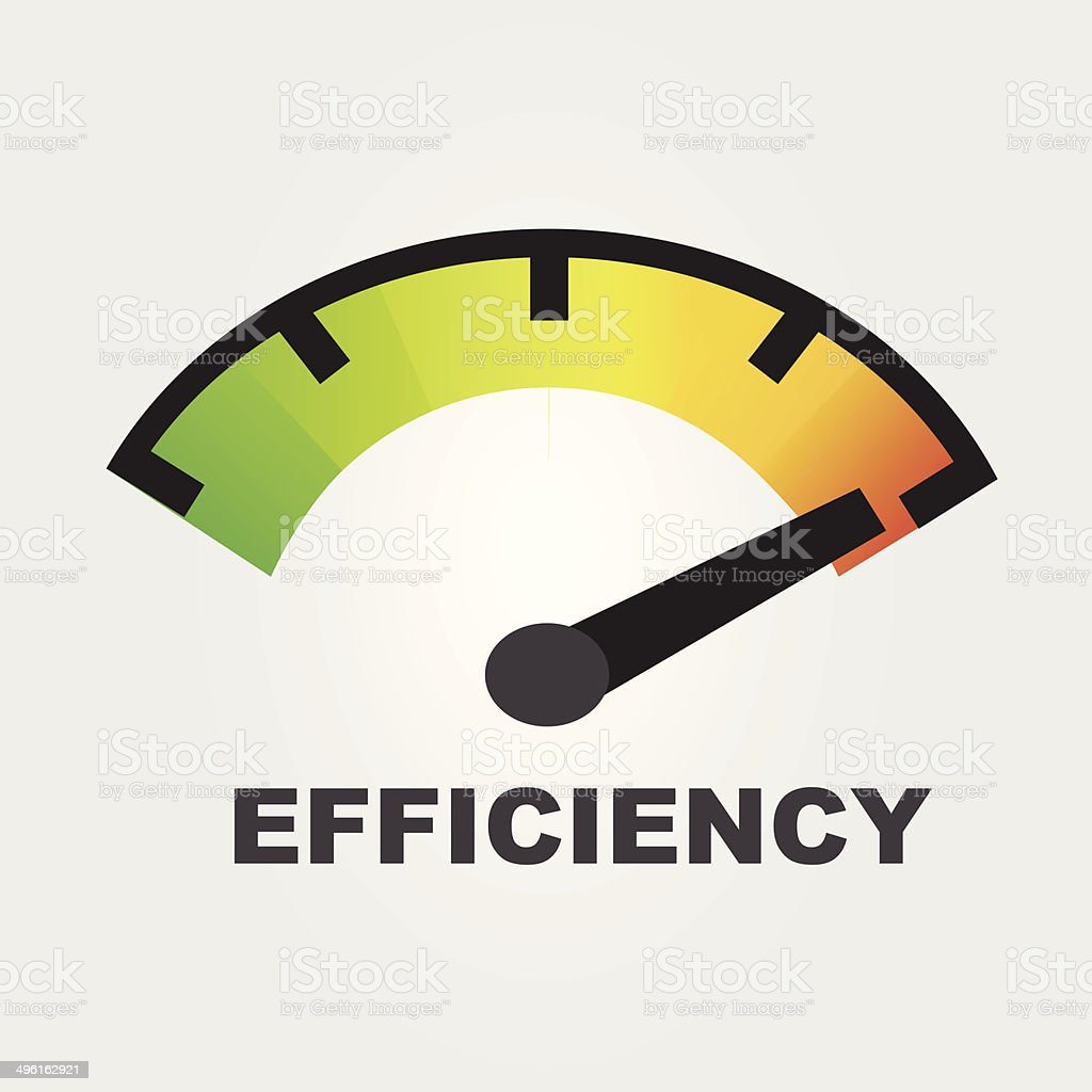 efficiency gauges concept vector art illustration