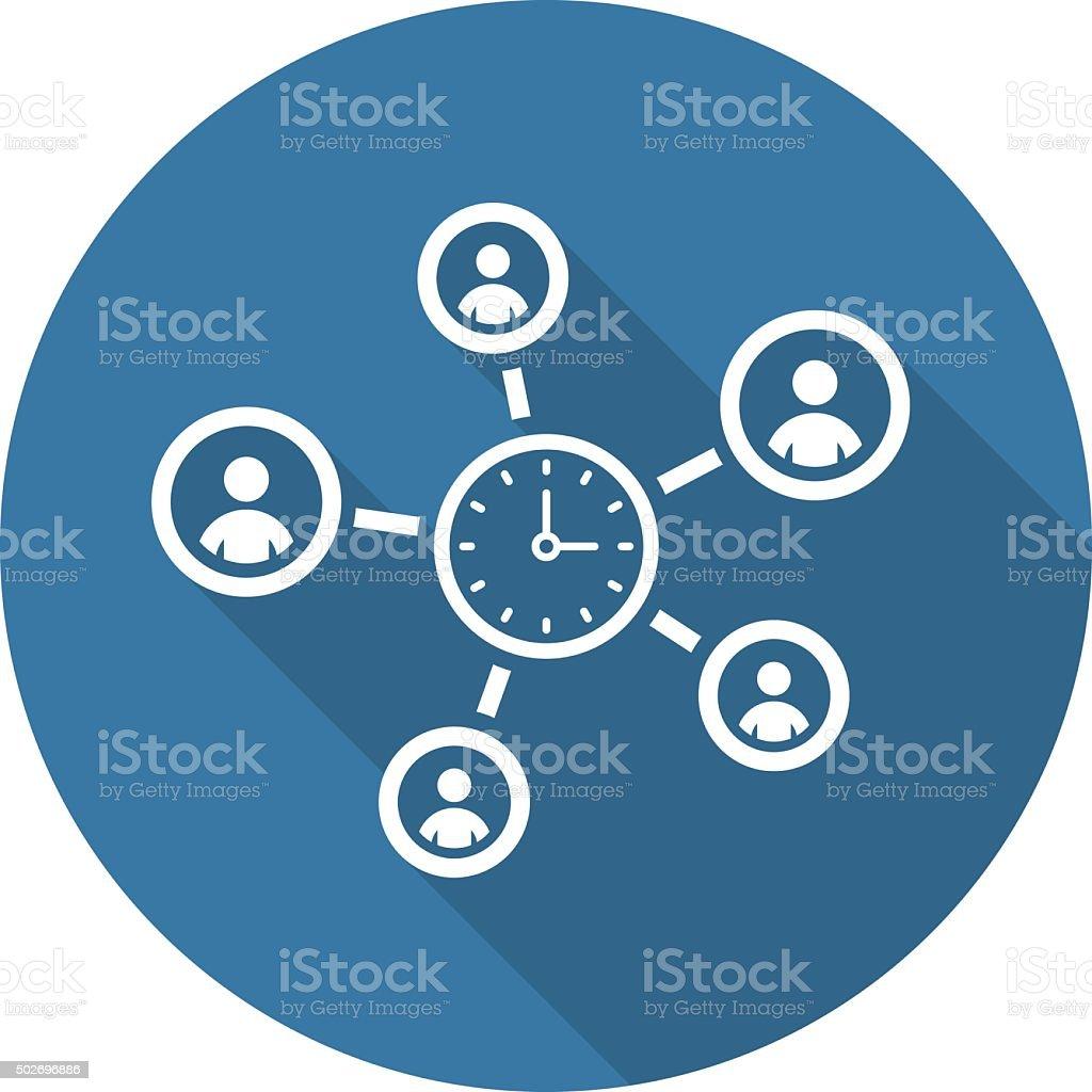 Efficiency Management Icon. Flat Design. vector art illustration