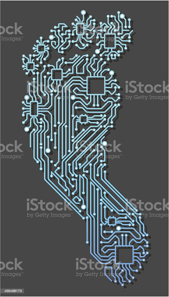 E-Footprint royalty-free stock vector art