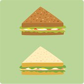 egg and ham sandwiches