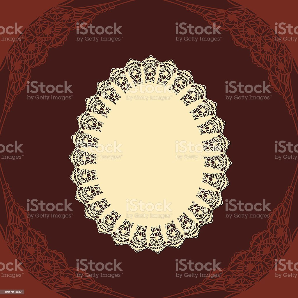 Egg doily with chocholate background royalty-free stock vector art
