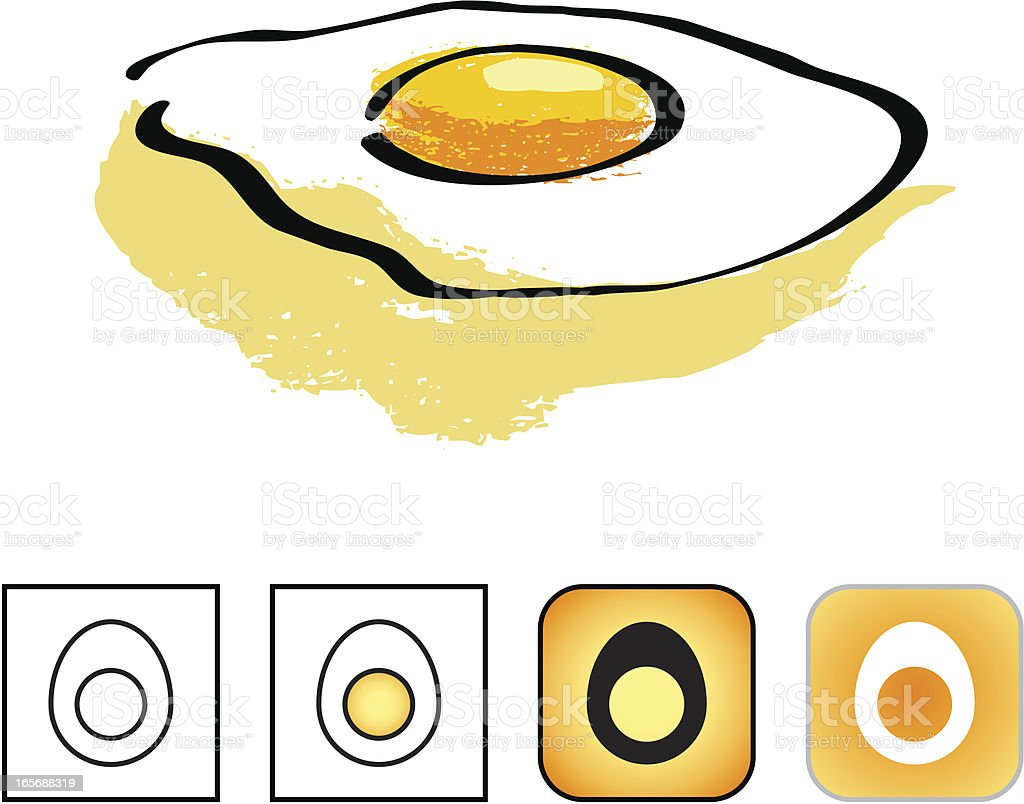 Egg icon set royalty-free stock vector art