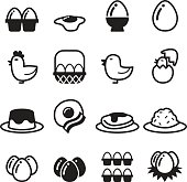 Egg icons set vector