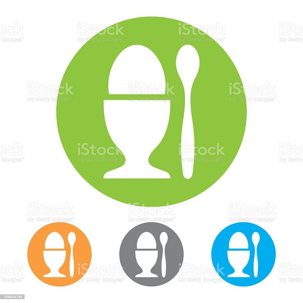 Egg in eggcup icon vector art illustration