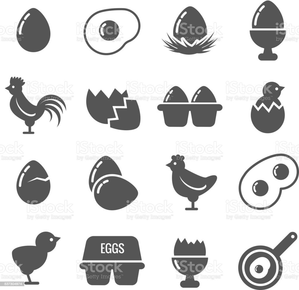 Egg vector icons vector art illustration
