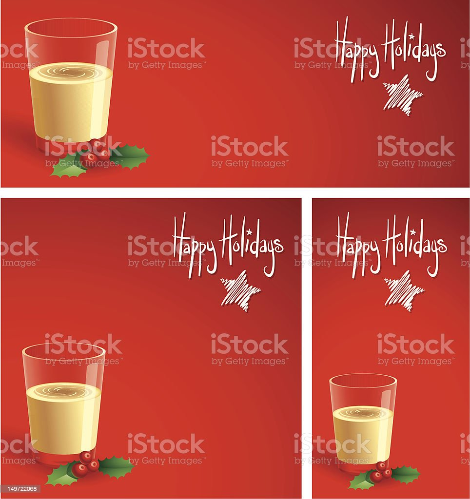 Eggnog on Red royalty-free stock vector art