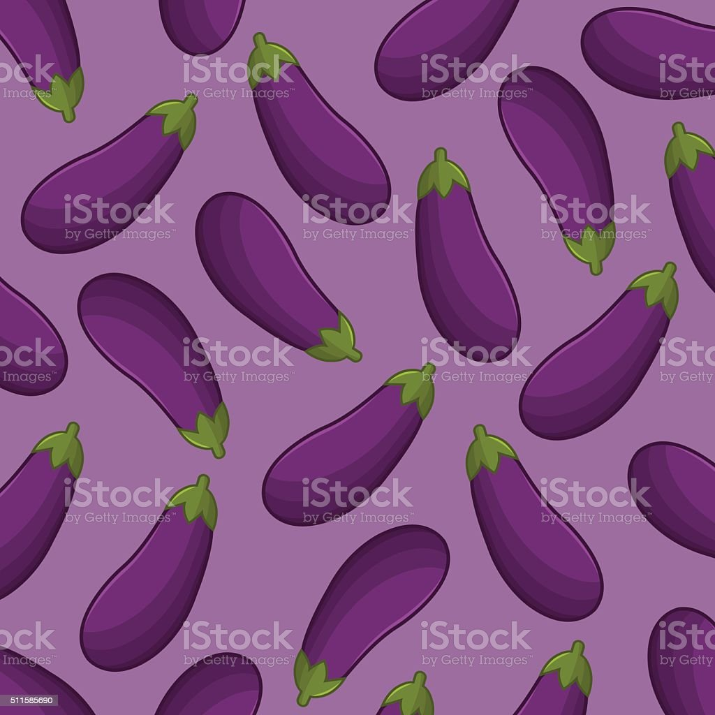 Eggplant background vector art illustration