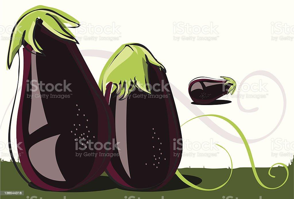 Eggplant royalty-free stock vector art