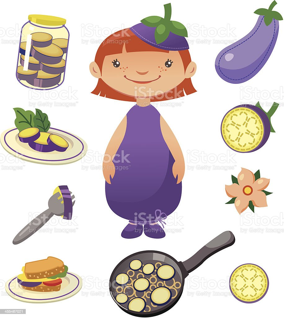 Eggplant royalty-free stock vector art