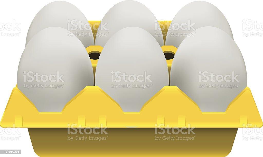 eggs carton royalty-free stock vector art