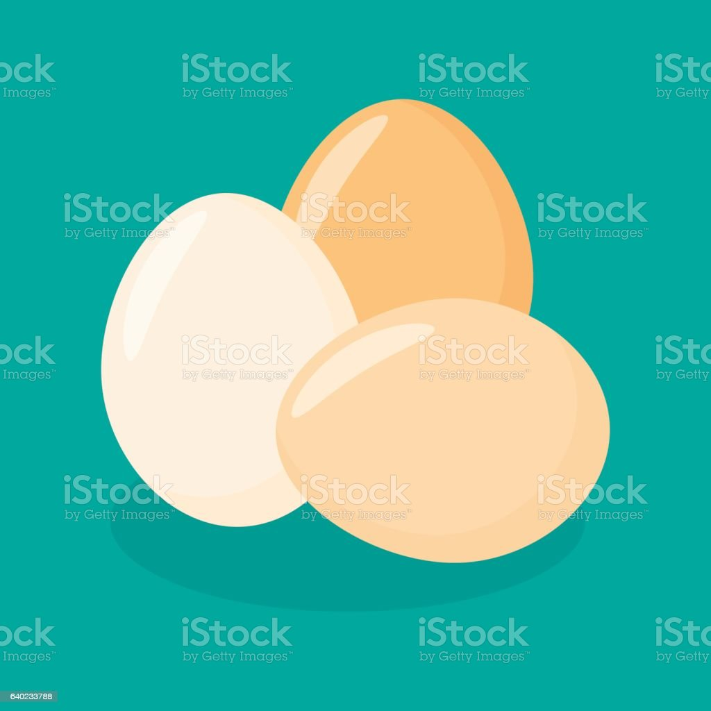 Eggs Flat Icon vector art illustration