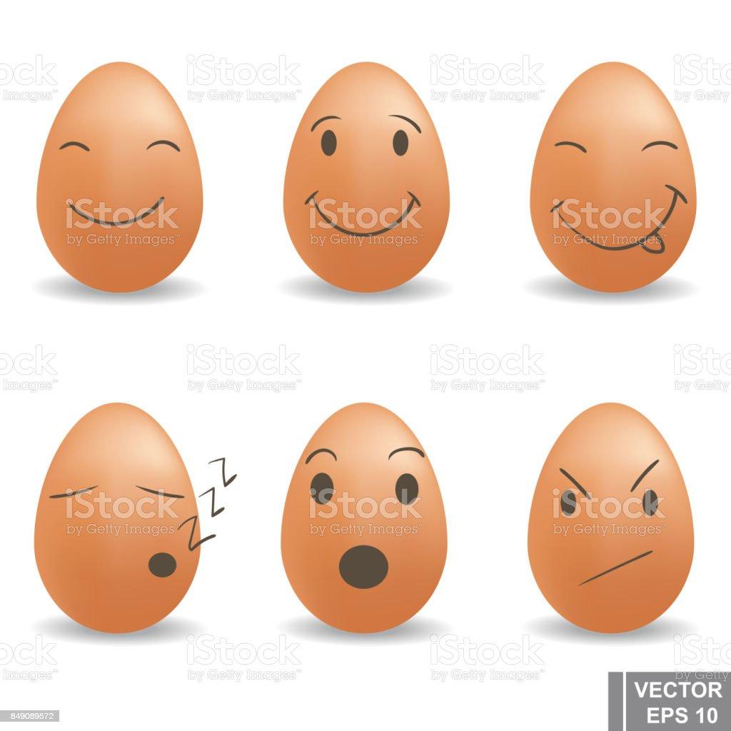 Eggs. Set. Happy easter. For your design. vector art illustration