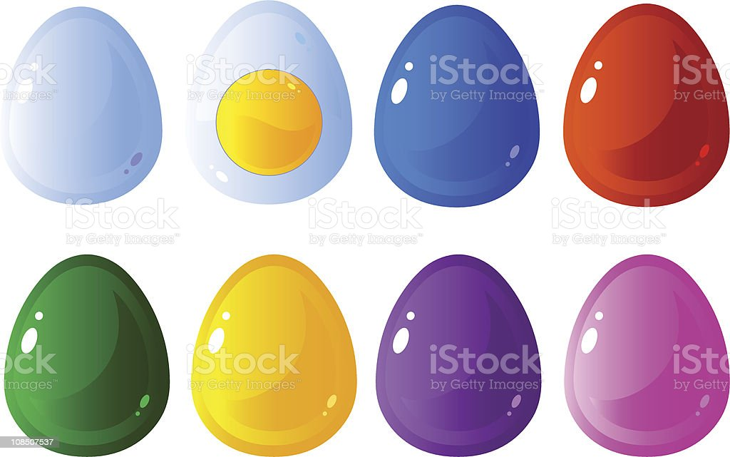Eggs set royalty-free stock vector art