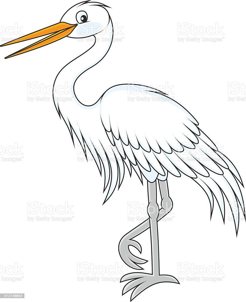 Egret vector art illustration