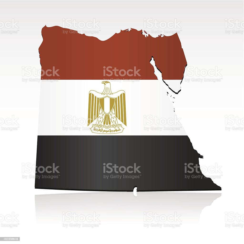 Egypt flag map royalty-free stock vector art