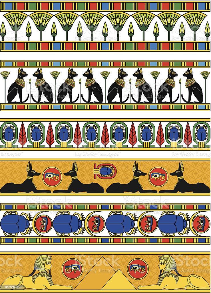 Egypt Horizontal Banner royalty-free stock vector art