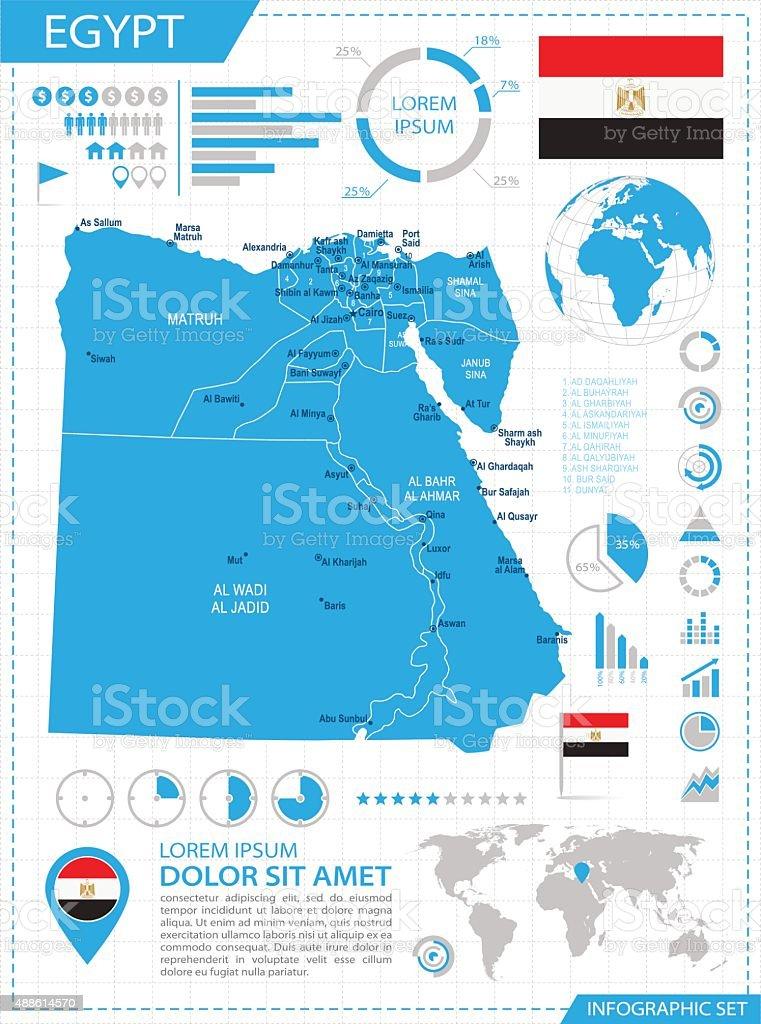 Egypt - infographic map - Illustration vector art illustration