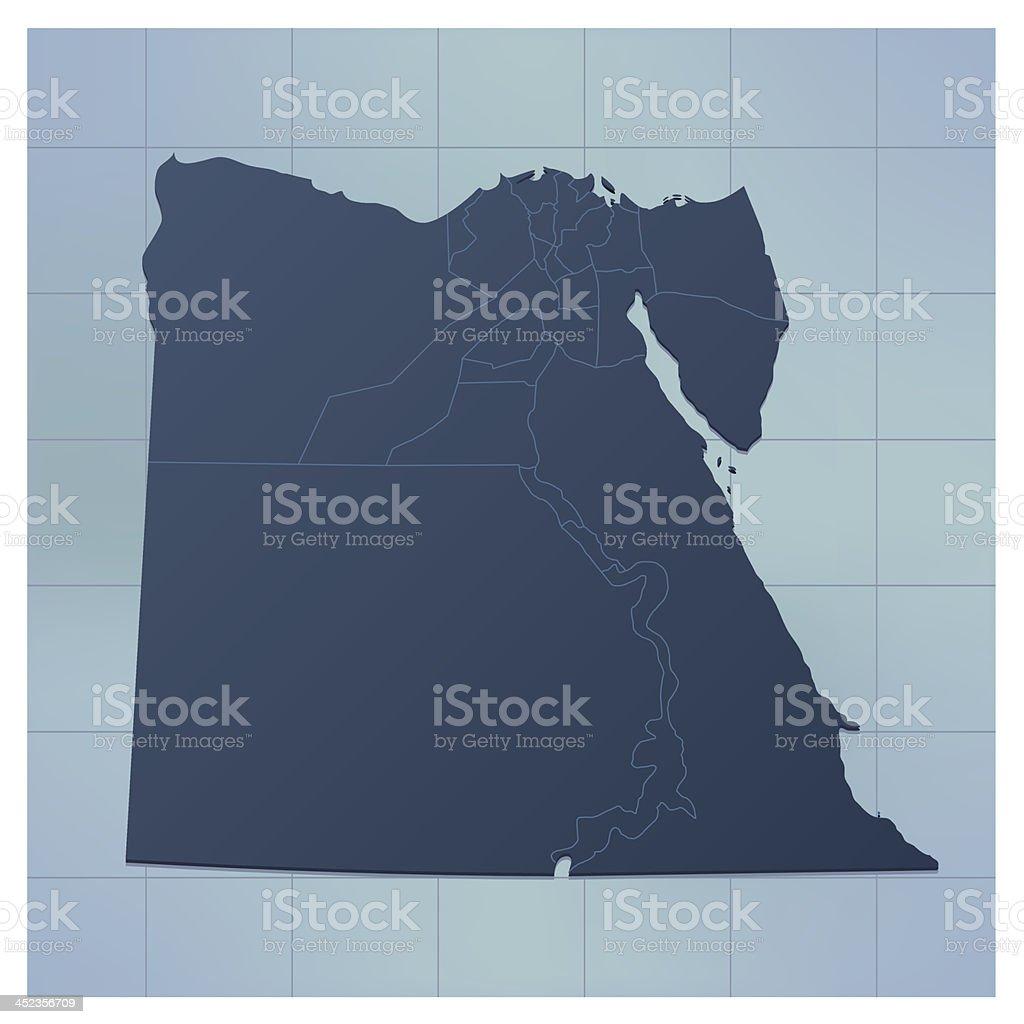 Egypt map dark royalty-free stock vector art