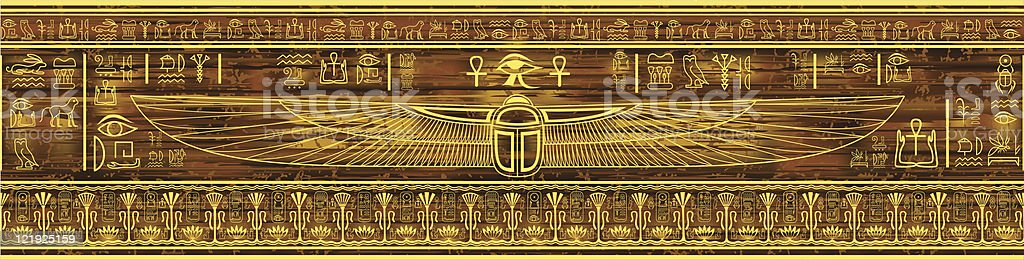 Egypt pattern (seamless border) royalty-free stock vector art