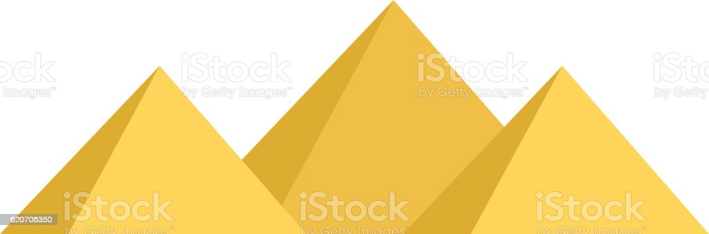 Egypt pyramids vector illustration vector art illustration