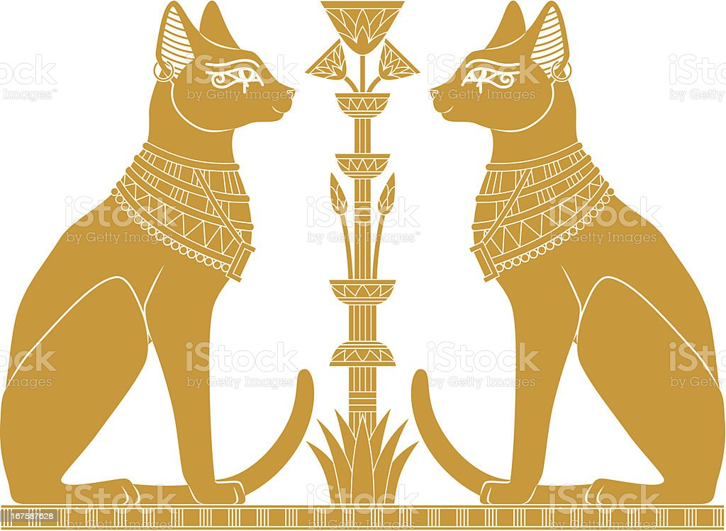 Egyptian Cats vector art illustration