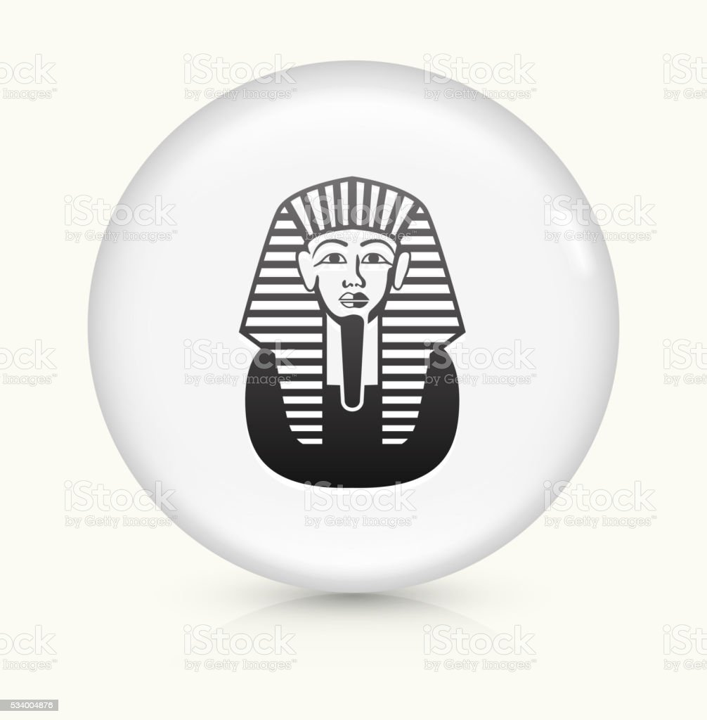 Egyptian Coffin icon on white round vector button vector art illustration