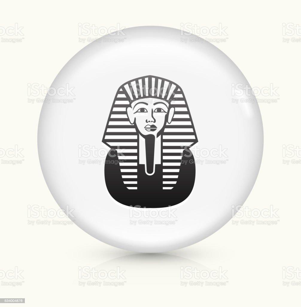 Egyptian Coffin icon on white round vector button vector art illustration