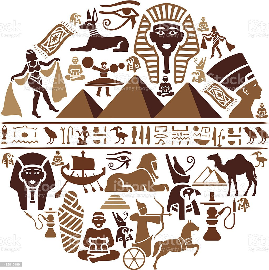 Egyptian Collage vector art illustration