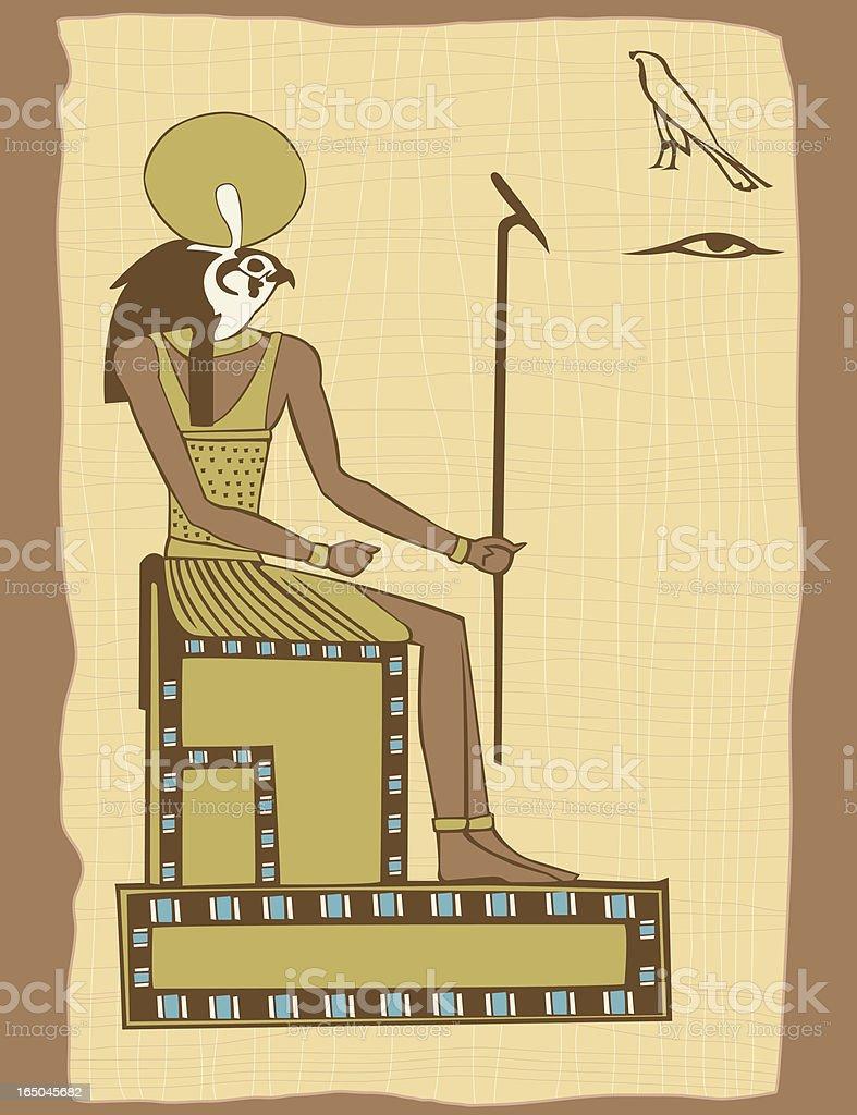 Egyptian God royalty-free stock vector art
