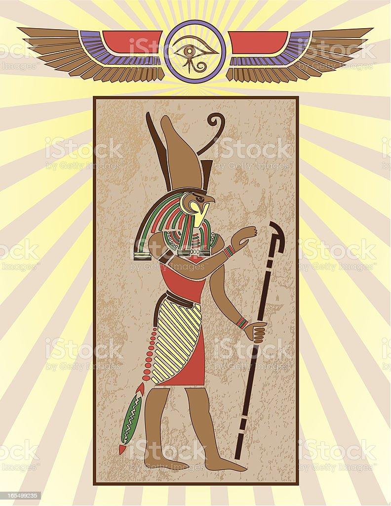 Egyptian Hieroglyph Panel: Horus royalty-free stock vector art