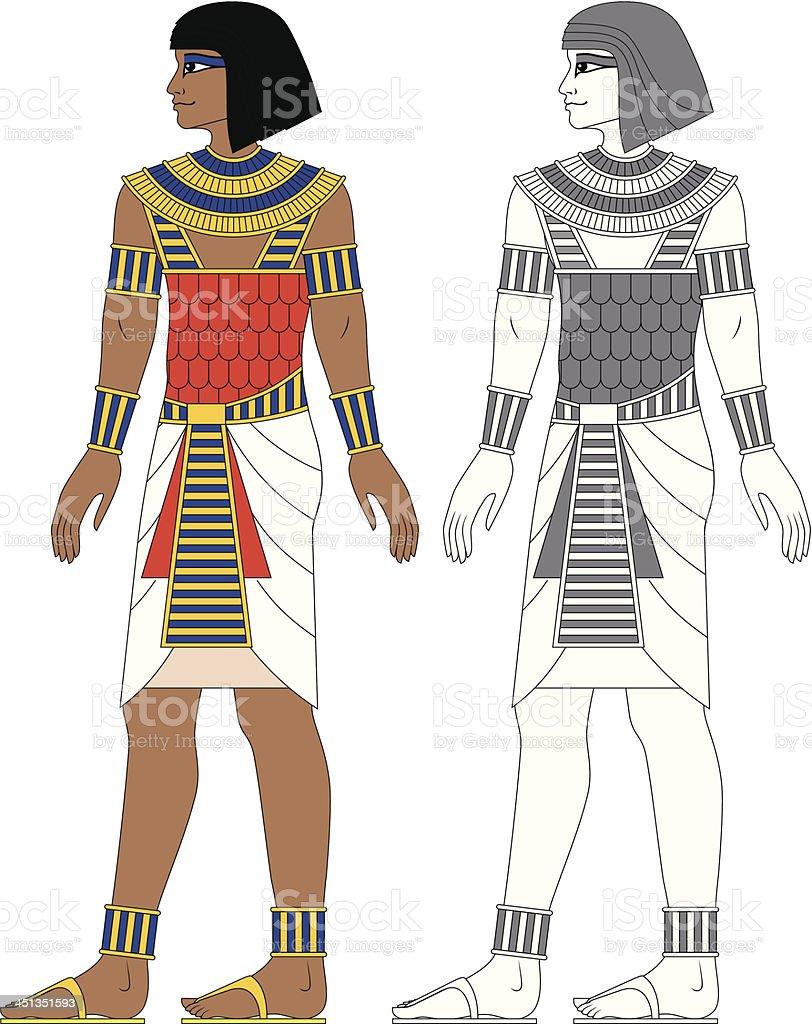 Egyptian Man vector art illustration