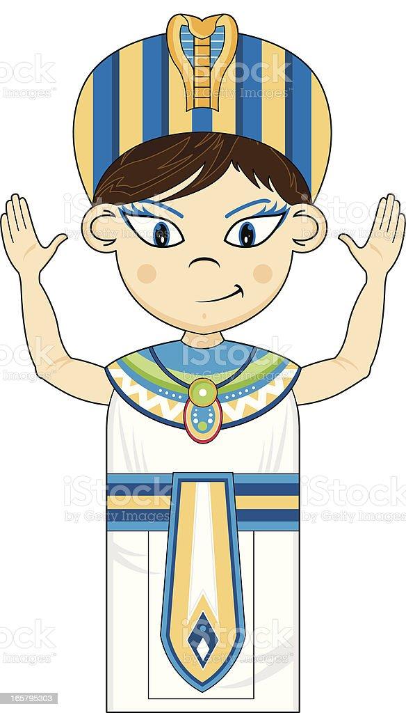 Egyptian Pharaoh King royalty-free stock vector art