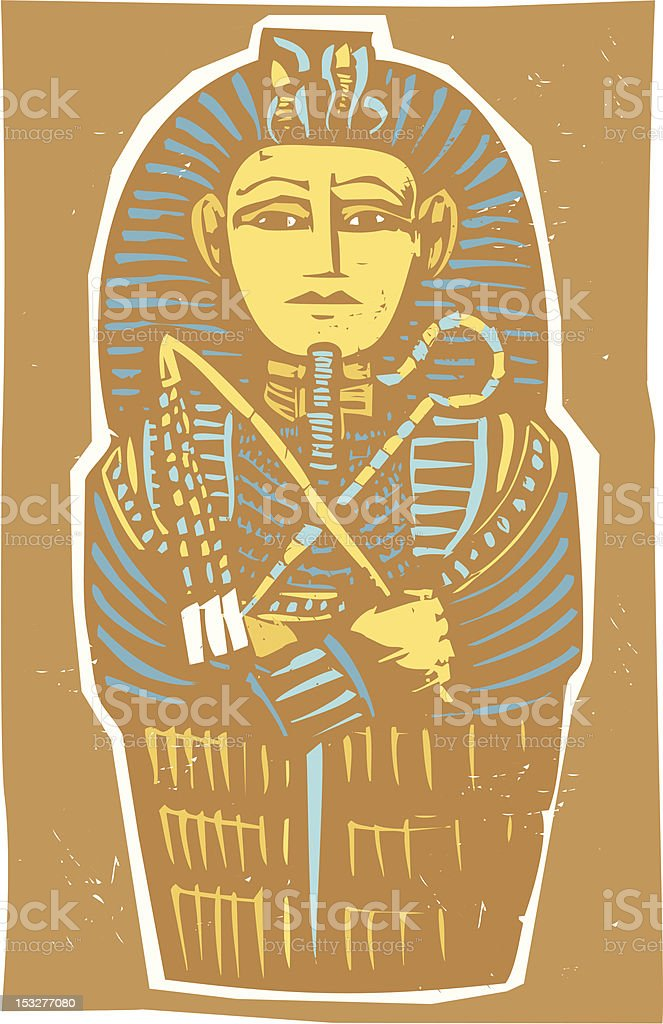 Egyptian Sarcophagus Color royalty-free stock vector art
