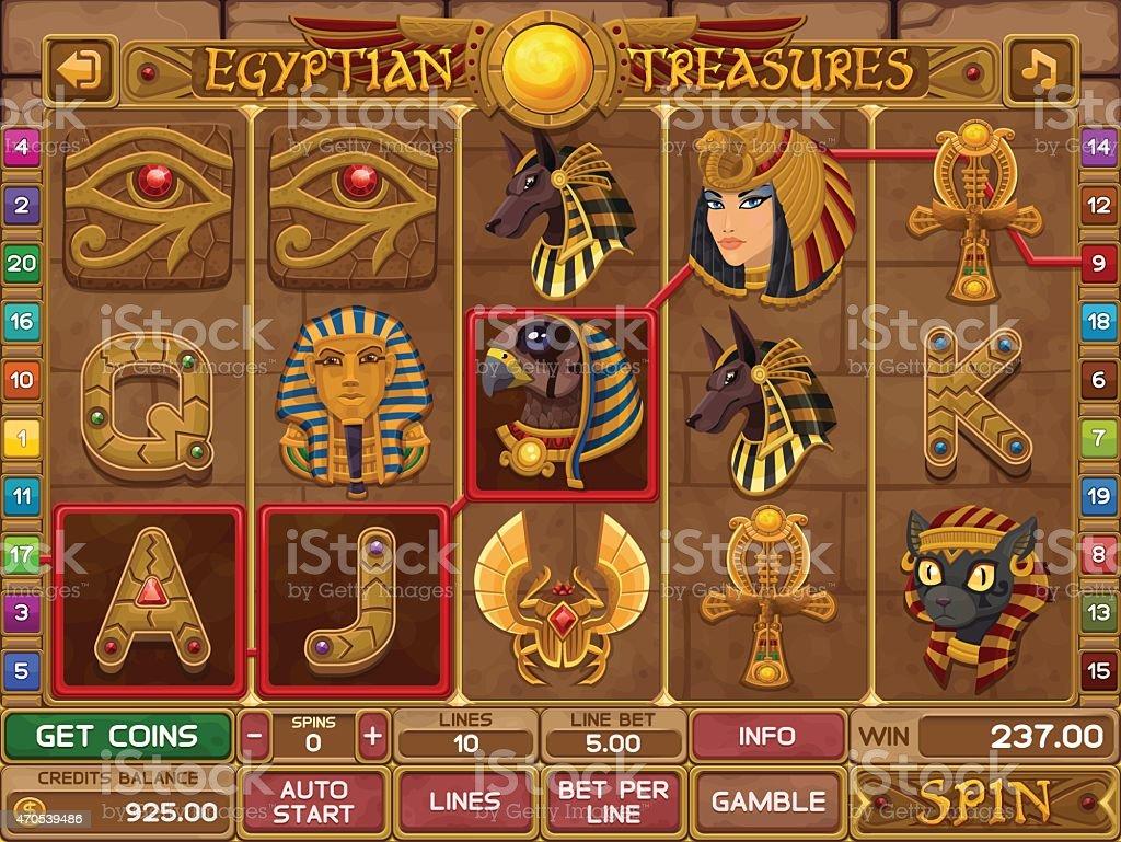 Египетский карт игры векторная иллюстрация