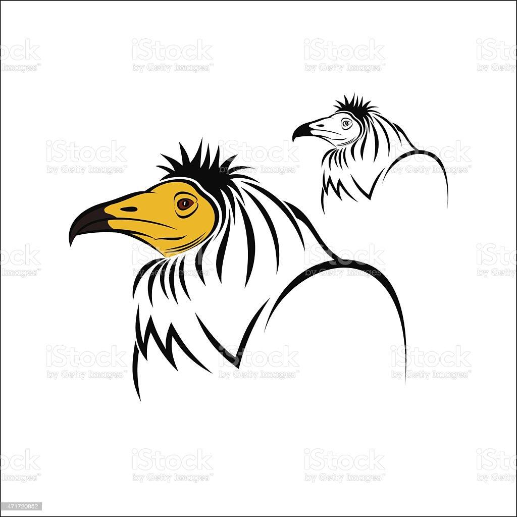 Egyptian Vulture royalty-free stock vector art
