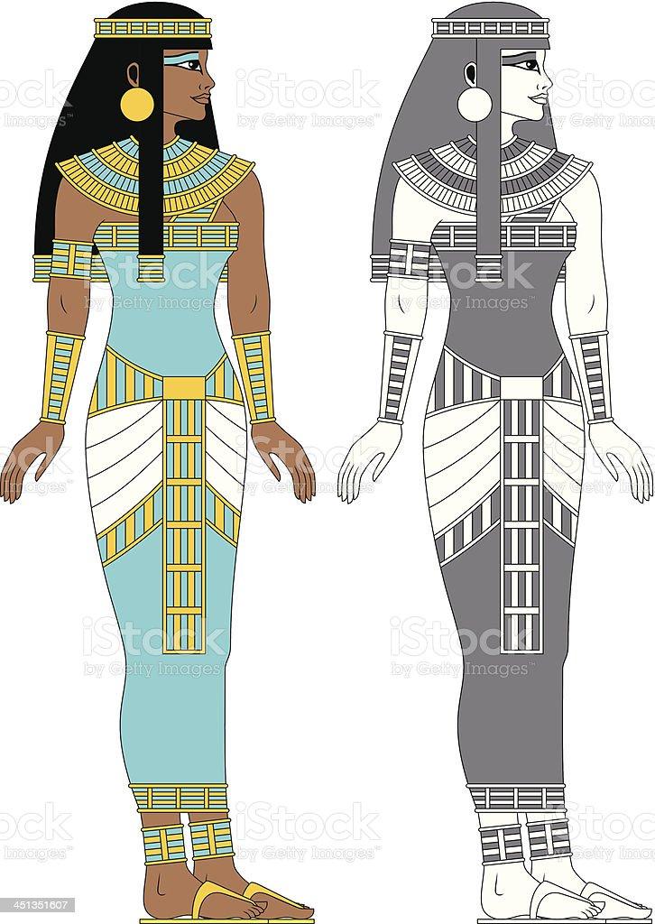 Egyptian Woman vector art illustration