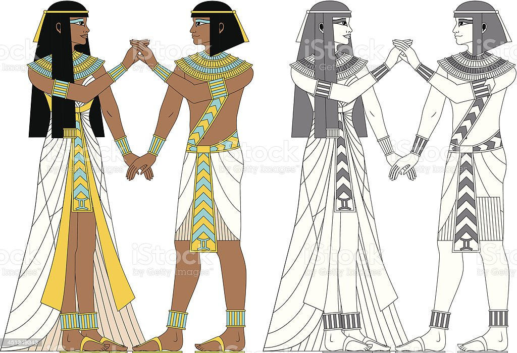 Egyptian Zodiac: Gemini royalty-free stock vector art