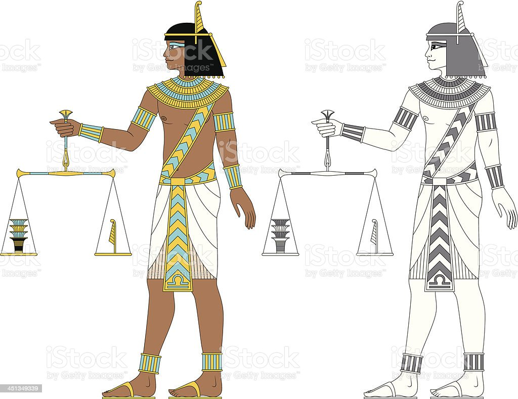 Egyptian Zodiac: Libra royalty-free stock vector art