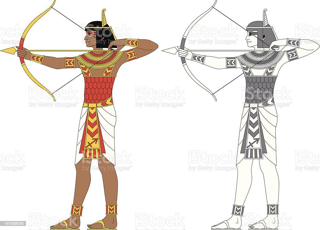 Egyptian Zodiac: Sagittarius royalty-free stock vector art