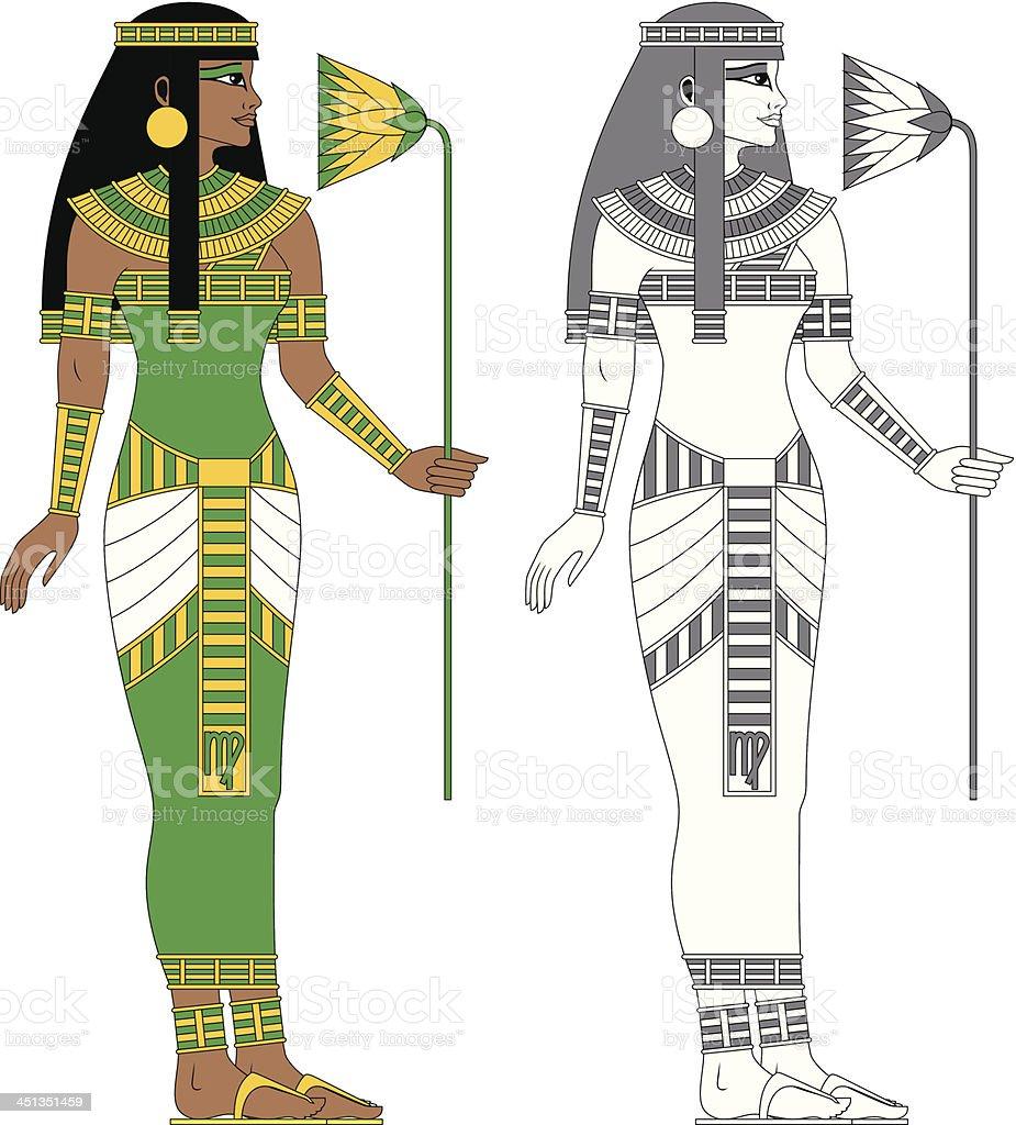 Egyptian Zodiac: Virgo royalty-free stock vector art